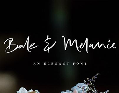 Bale & Melanie Font | Free Download version
