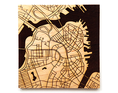 Urban Grid Coasters