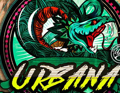 Urbana lettering Mexico & California graphic Studio