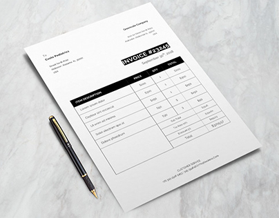 Free Formal Invoice Template for Billing Purpose