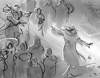 Kervan 1915 film, yönetmen İsmail Güneş, storyboard