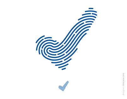 Logo: Approved + Fingerprint