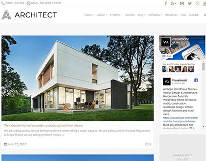 Blog Page - Architect WordPress Theme