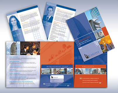 Carlyle Development Services Print Design and Website