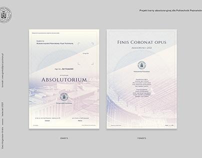 Graduation certificate design