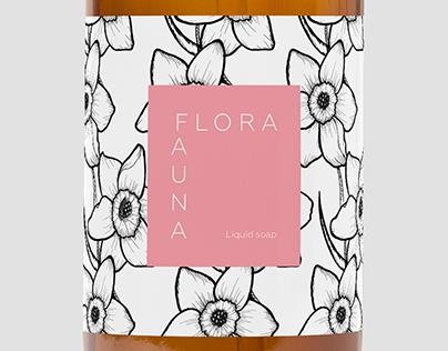 Cosmetics Label Design FLORA&FAUNA -Briefbox-