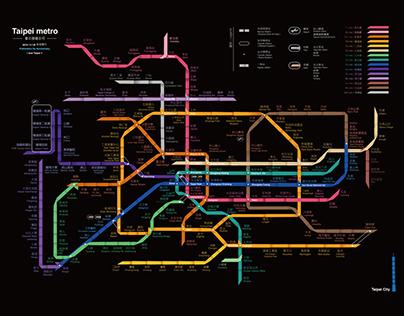 Future Taipei metro map