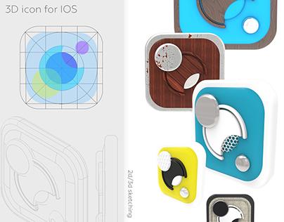 3D IOS icon