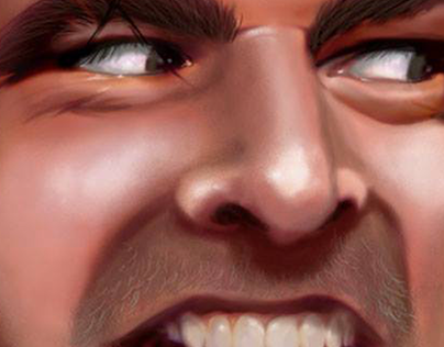 Digital Portrait - Here's Johnny.