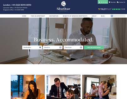 SilverDoor Apartments (Web Design)