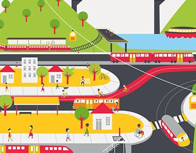 Ilustrações para o Mobilize Brasil