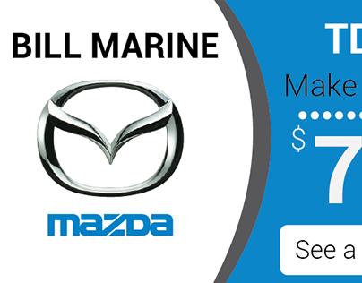 Bill Marine Mazda Banner Ad