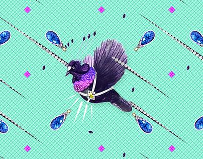 Pattern design Bling Birds 6 Edouard Artus ©2017