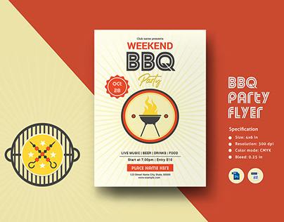 Barbecue Party Invitation Template