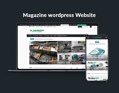Elimpresor Magazine WordPress Website