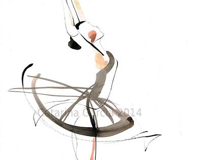 Dance Drawings - Gesture Drawing