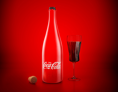 Coca Cola - Concept of New Year Bottle