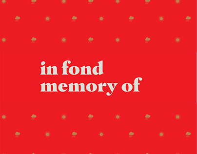 In Fond Memory Of