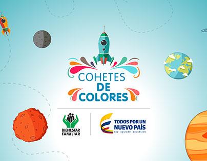 🚀 Cohetes de Colores 🚀