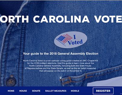 MEJO 187 UX/UI Design - North Carolina Votes