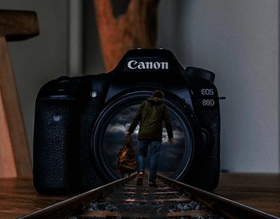 Guy Walking into camera lens on train tracks