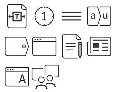 Icons for my portfolio site