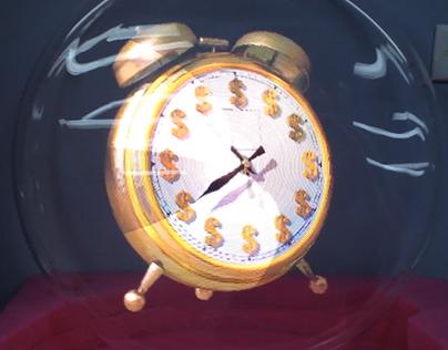 3D Holographic LED Fan - Cash Clock