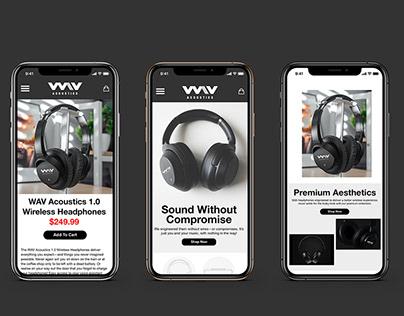 WAV Acoustics Website Design Project