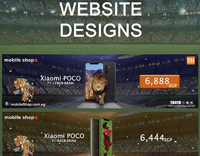 website designs mobileshop