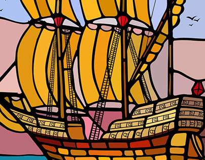 Stained Glass Windows - vector artwork