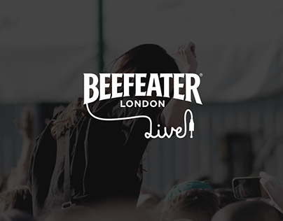 Design Beefeater Live. Logo, poster and merchandisign.