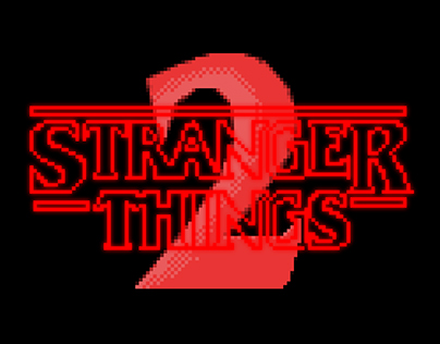 pixel art promo Stranger things