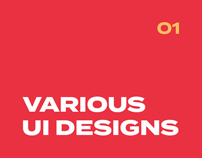Various UI Designs 01