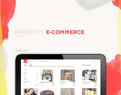 Sitio e-commerce para listas de casamiento.