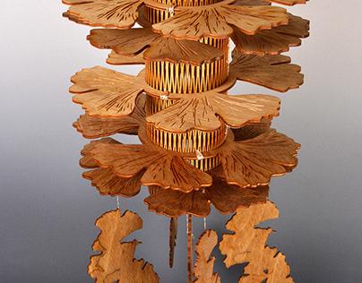Ginkgo Illuminated Sculpture