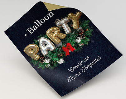 Balloon Party, Christmas Flyers Templates