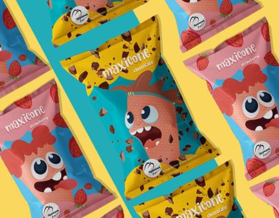 Maxicone Ice Cream: Packaging design