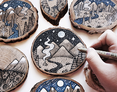 Wood Cut Illustrations
