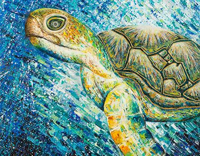 The World Beneath • Acrylic on canvas