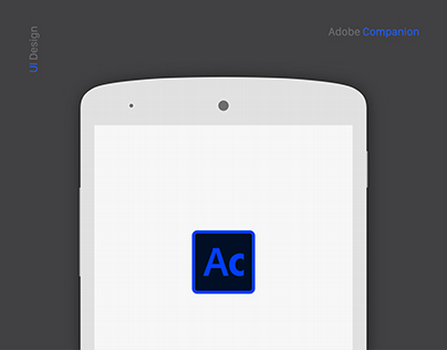 Adobe Companion Mobile Application - UI/UX