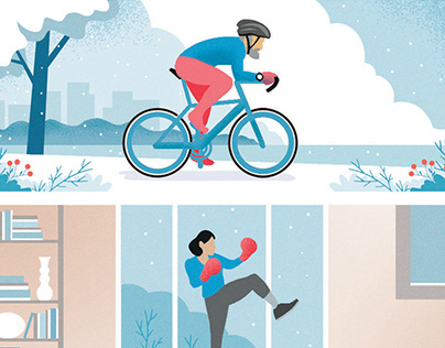 Illustrations for Sports Heroes Group