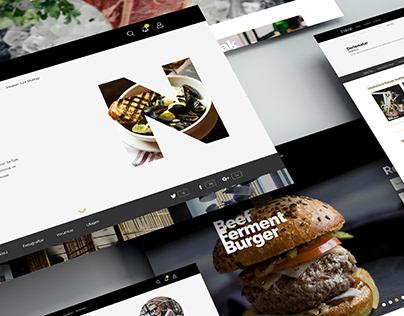 Fine Dining Restaurant Guide Website - UX/UI