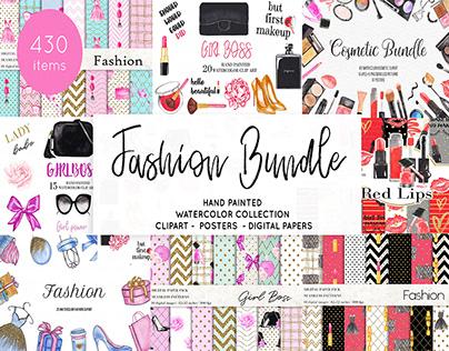 Watercolor Fashion Makeup Bundle