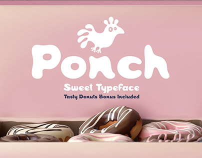Ponch font and graphics