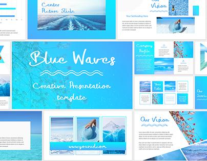 Blue Waves - Powerpoint Presentation Template