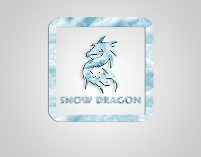 Snow dragon Logo design
