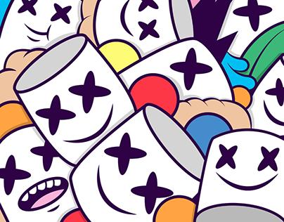 Marshmello illustration