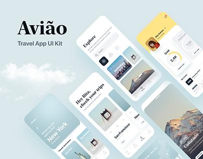 Aviao travel App UI Kit