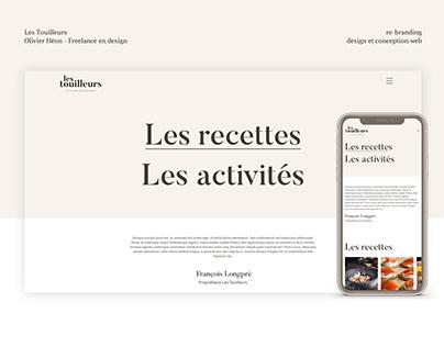 Les Touilleurs - Branding et conception web