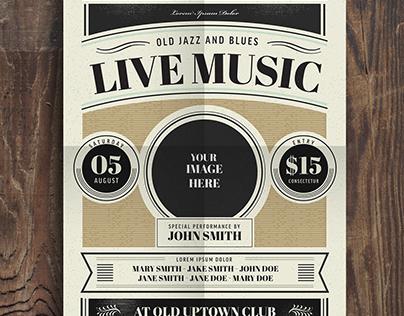 FREE!! Old Vintage Jazz Music Flyer